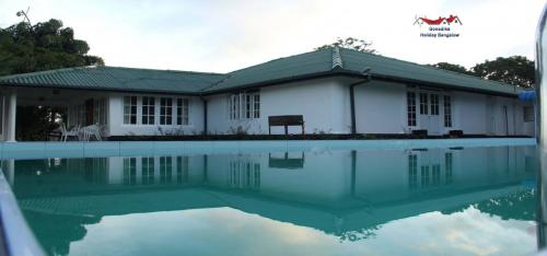 pool with bungalow